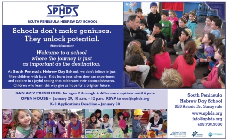 Ad for South Peninsula Hebrew Day School
